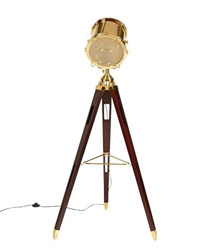 Stehlampe Hollywood Desginer Leuchte Tripod Gold