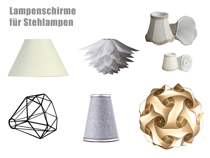 lampenschirme f r stehlampen. Black Bedroom Furniture Sets. Home Design Ideas