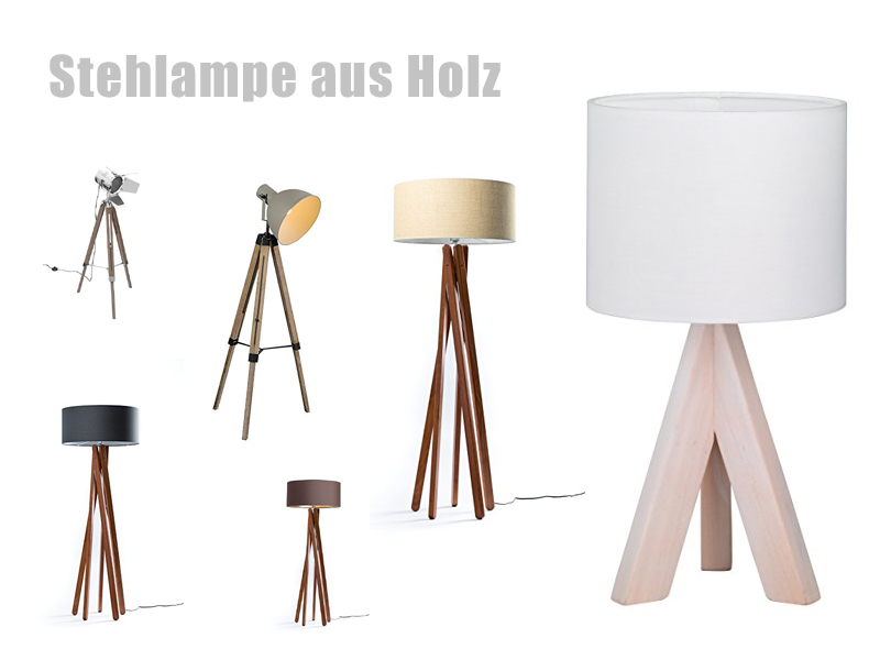 stehlampe aus holz. Black Bedroom Furniture Sets. Home Design Ideas