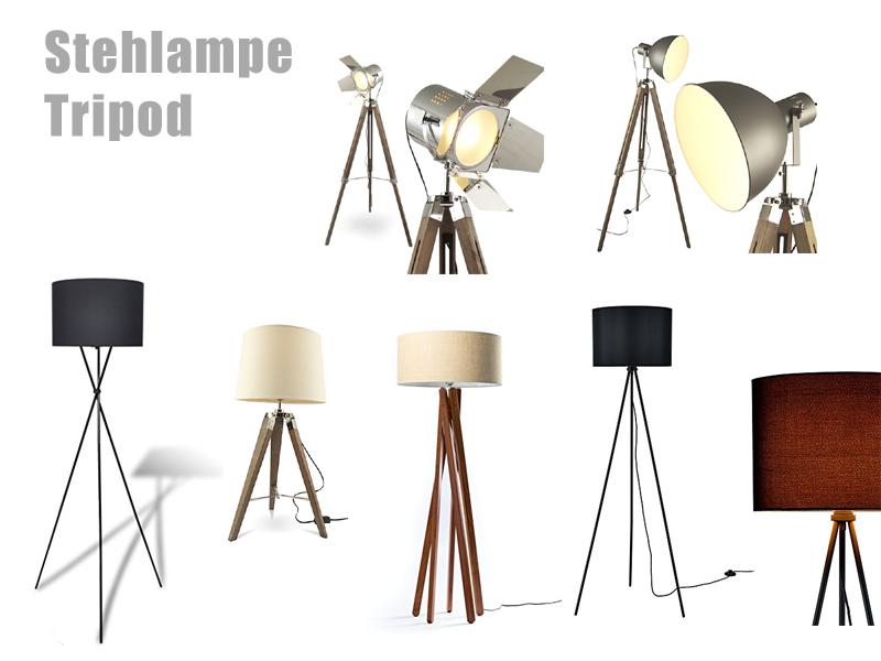 Stehlampe Tripod